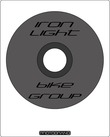 Top Cap Iron Light Black Logo