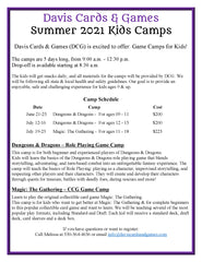 Summer 2021 Kids Camp