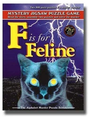 Mystery Jigsaw Puzzle Game: F is for Feline Puzzle - Davis Cards & Games | Davis Cards & Games