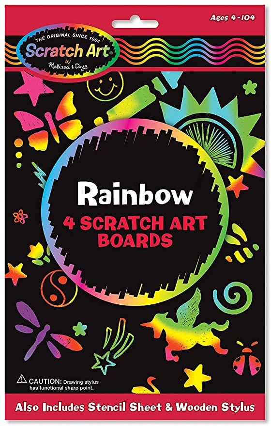 Melissa & Doug: On the Go: Scratch Art: Color-Reveal Pad | Davis Cards & Games
