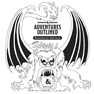 Dungeons & Dragons: Adventures Outlined Coloring Book | Davis Cards & Games
