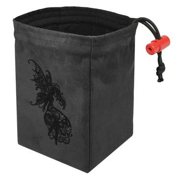 Baroque Dark Fairy Embroidered Dice Bag | Davis Cards & Games