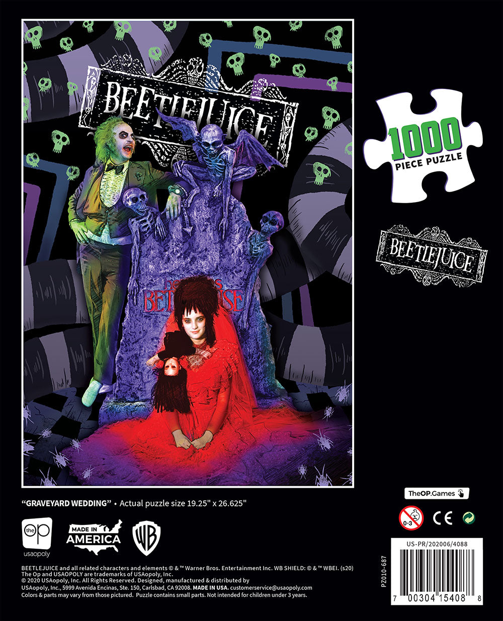 Beetlejuice: Graveyard Wedding 1000 Piece Puzzle | Davis Cards & Games