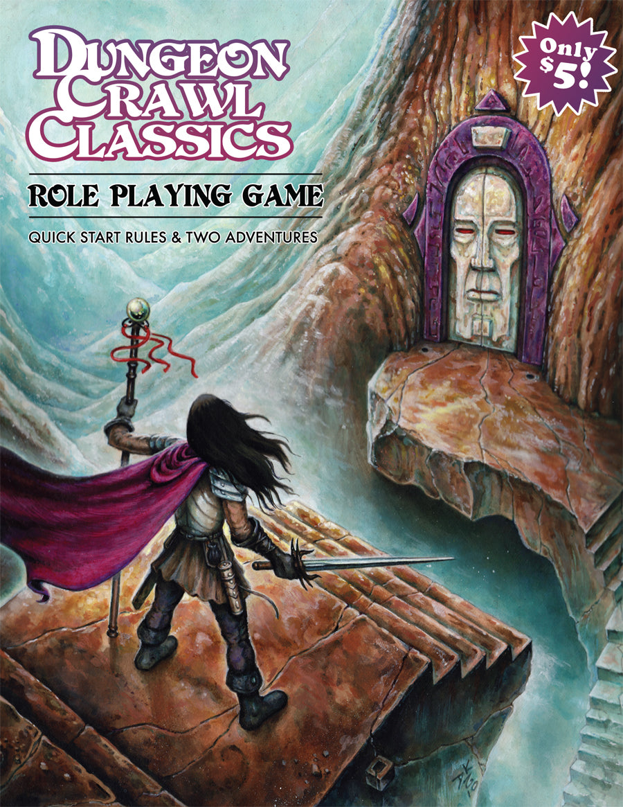 Dungeon Crawl Classics RPG Quick Start Rules & Two Adventures | Davis Cards & Games