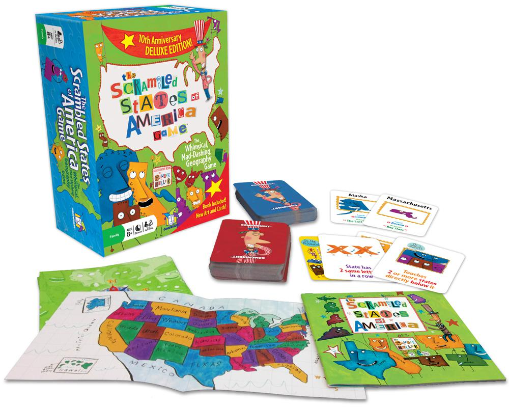 The Scrambled States of America Game: 10th Anniversary Deluxe Edition | Davis Cards & Games