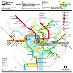 DC Metro Map 500 Piece Puzzle | Davis Cards & Games