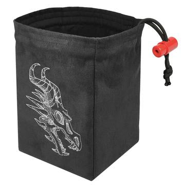 Shadow Dragon Gray Embroidered Dice Bag | Davis Cards & Games