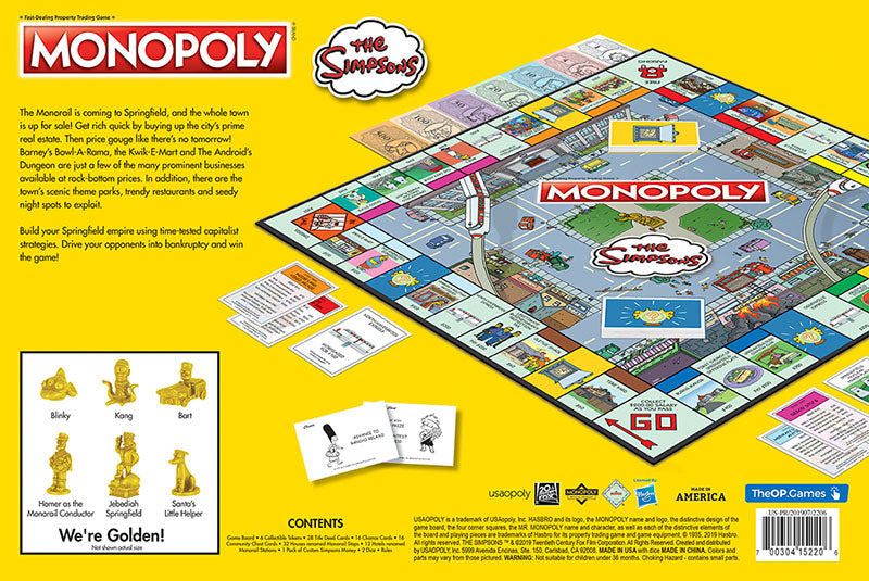 Monopoly: The Simpsons | Davis Cards & Games