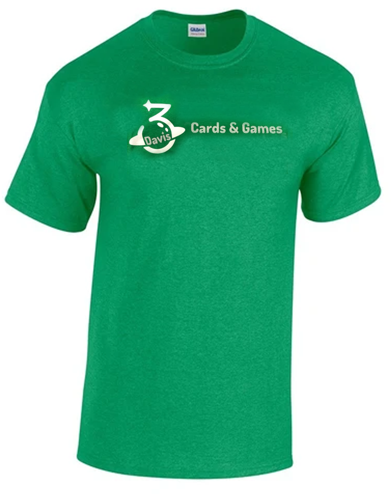DCG Green T-shirt | Davis Cards & Games