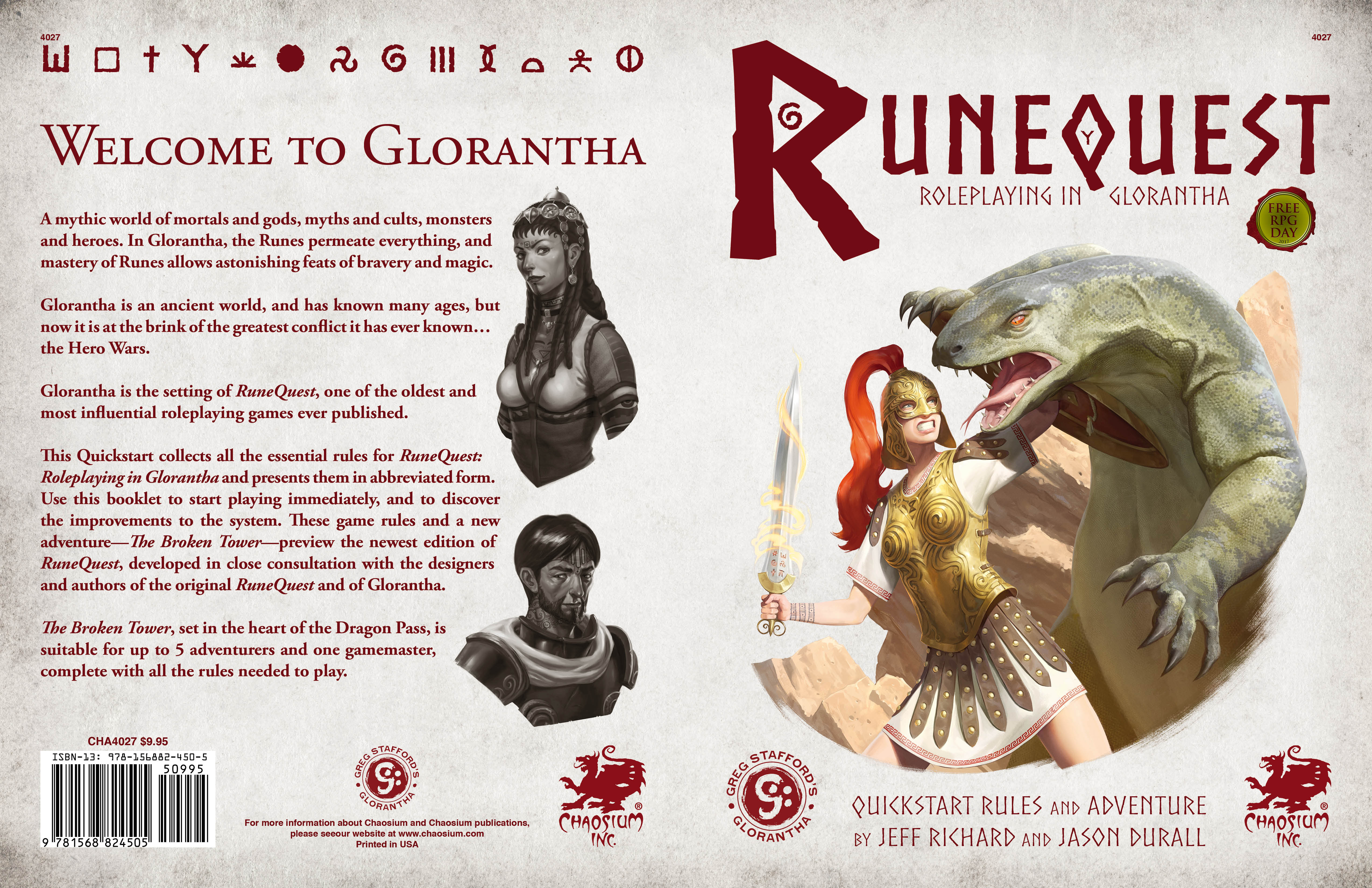 RuneQuest: Roleplaying in Glorantha Quickstart | Davis Cards & Games