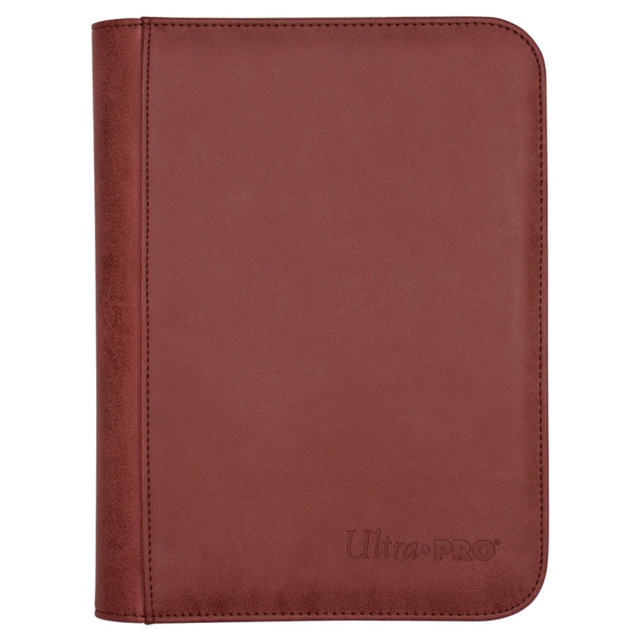 Ultra Pro: Zippered 4-Pocket Premium PRO-Binder: Suede Collection | Davis Cards & Games