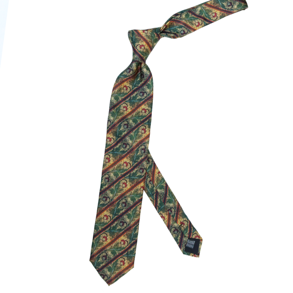 'Acorn Mosaic'  100% Silk MENS tie set - The Block Collection