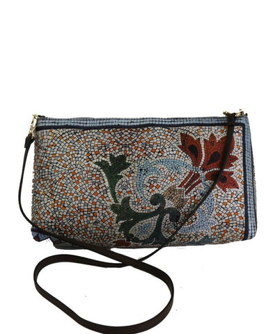 'Collins  100% Silk & leather Clutch & Side Bag' - The Block Collection