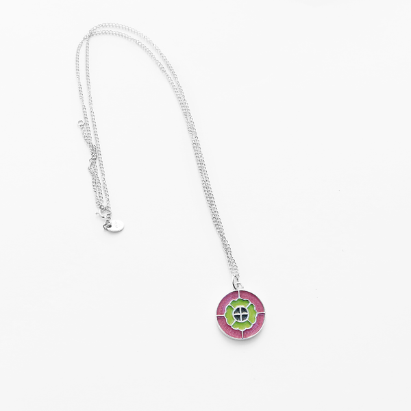 Stirling Silver & Enamel Pendant - The Block Collection