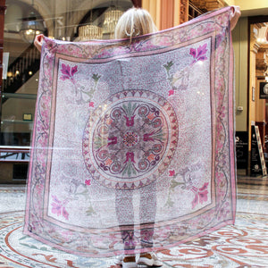 'Collins Rose' LARGE Modal Scarf 140cm x 140cm - The Block Collection