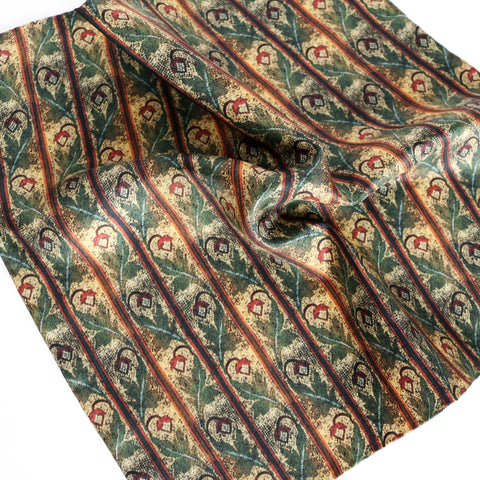 'Acorn Mosaic' 100% Silk MENS pocket square - The Block Collection