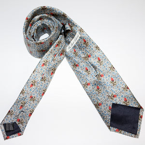 The Gumnut Blossom 100% silk tie - The Block Collection