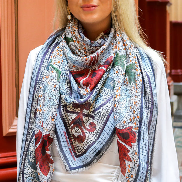 'Collins' Original  LARGE  Modal Scarf 140cm x 140cm - The Block Collection
