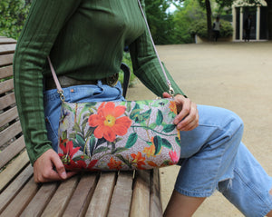 Botanica Clutch & shoulder Bag - Blush Pink