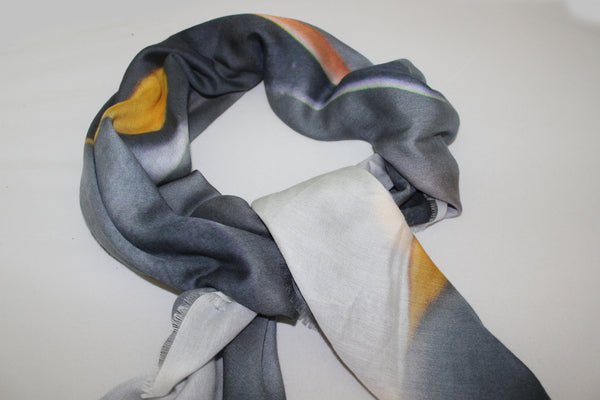 Penguin Island LARGE Cashmere & Modal scarf 140cm x 140cm - The Block Collection