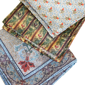 100% Silk Pocket Squares assorted set of x 3 - The Block Collection