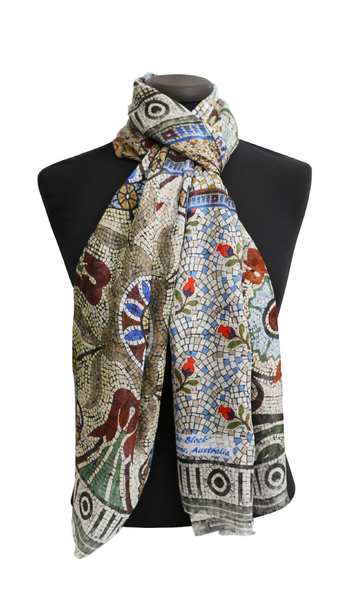 Patchwork Modal LARGE Rectangular Scarf 200cm x 90cm - The Block Collection