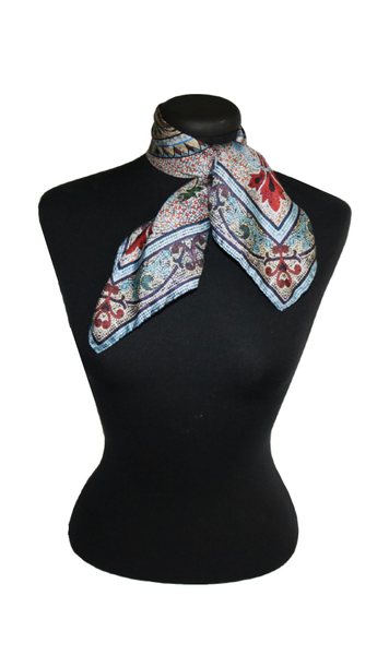 'Original Collins'  SMALL Silk Kerchief Scarf 53cm x 53cm - The Block Collection