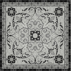 'The Dome Pewter' CLASSIC Silk Scarf 90cm x 90cm - The Block Collection