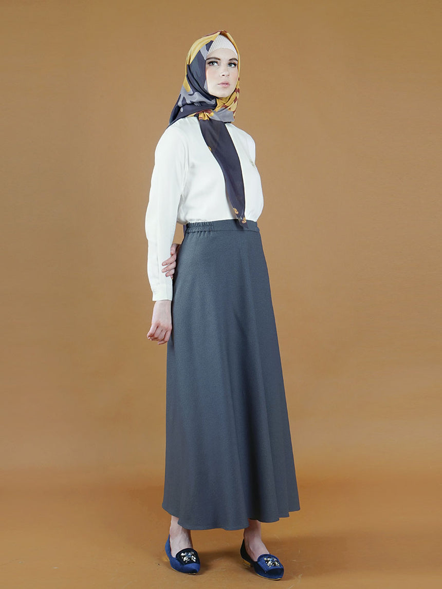 Kashvi Daily Skirt Grey Stone