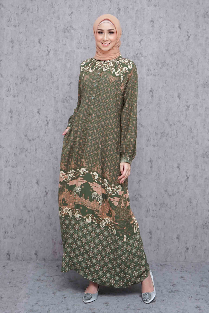 Jenar Dress - Seaweed