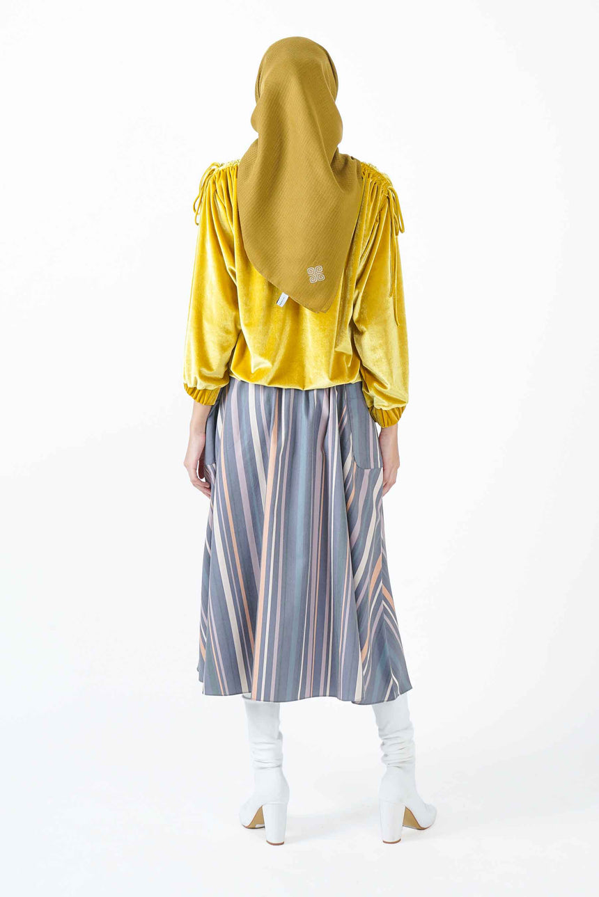 Velvet Blouse Yellow
