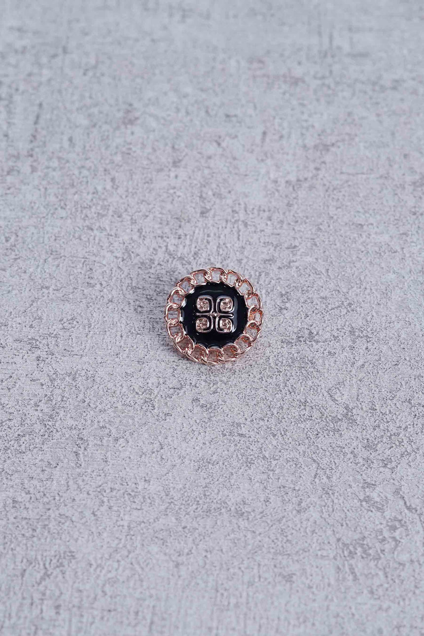 Mini Chain Brooch Rose Gold