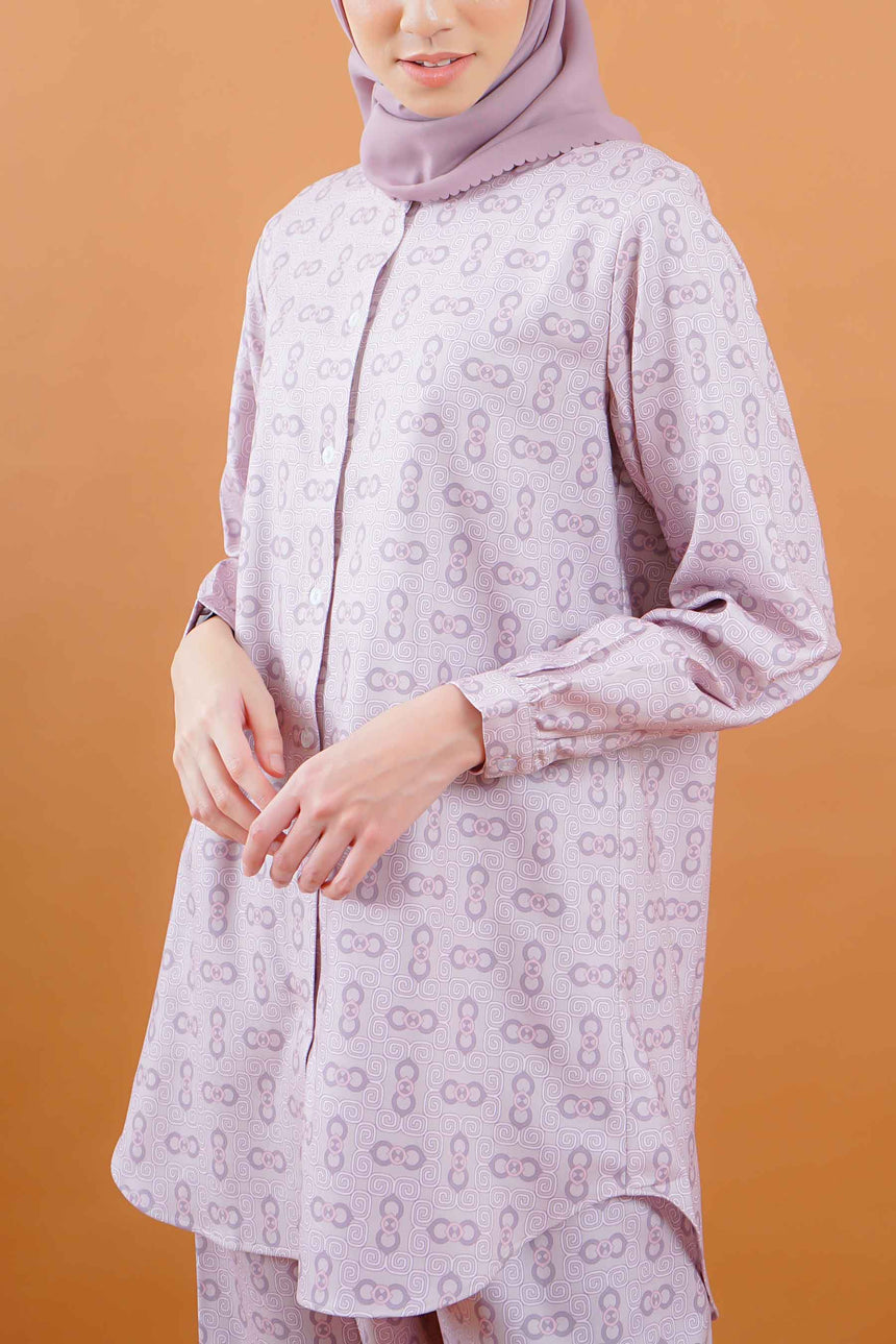 Emma Stamp Shirt Dusty Rose