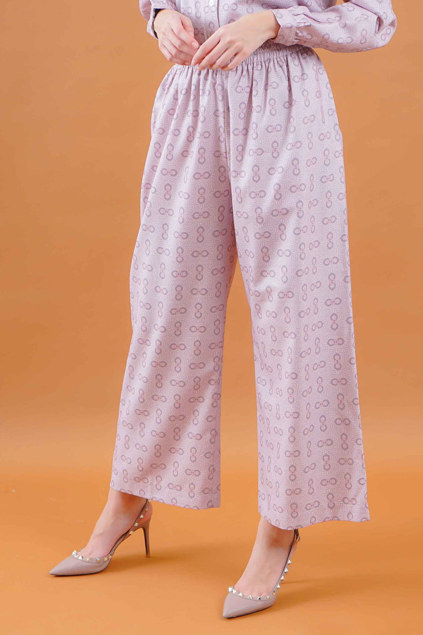 Olivia Stamp Pants Dusty Rose