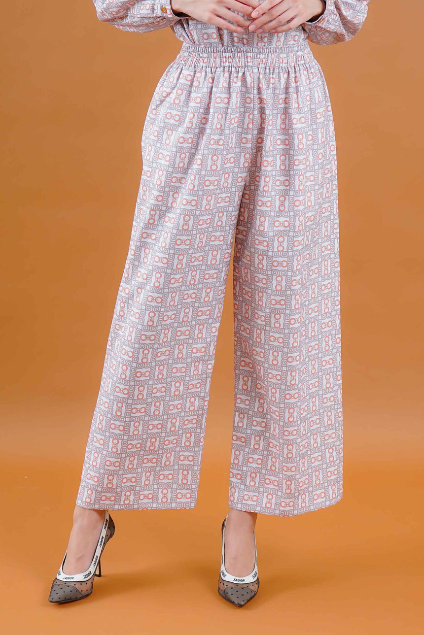 Olivia Stamp Pants White