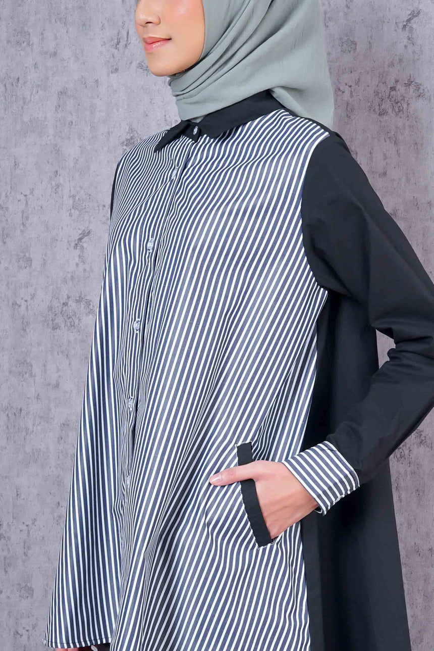 Stripe Shirt Black