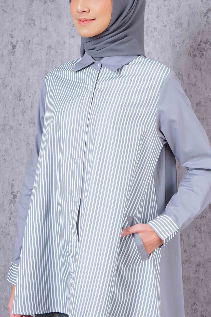 Stripe Shirt Grey