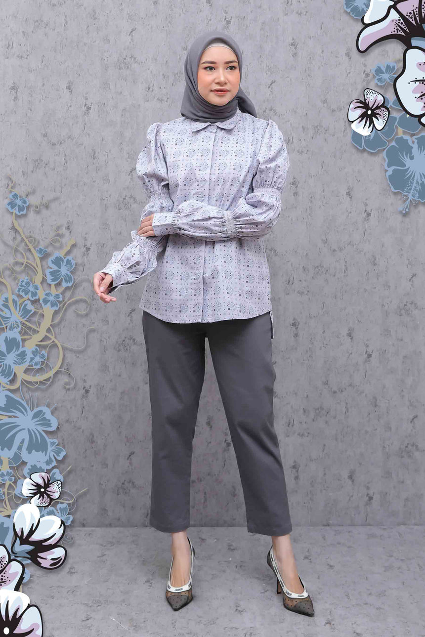 Venice Blouse Light Grey