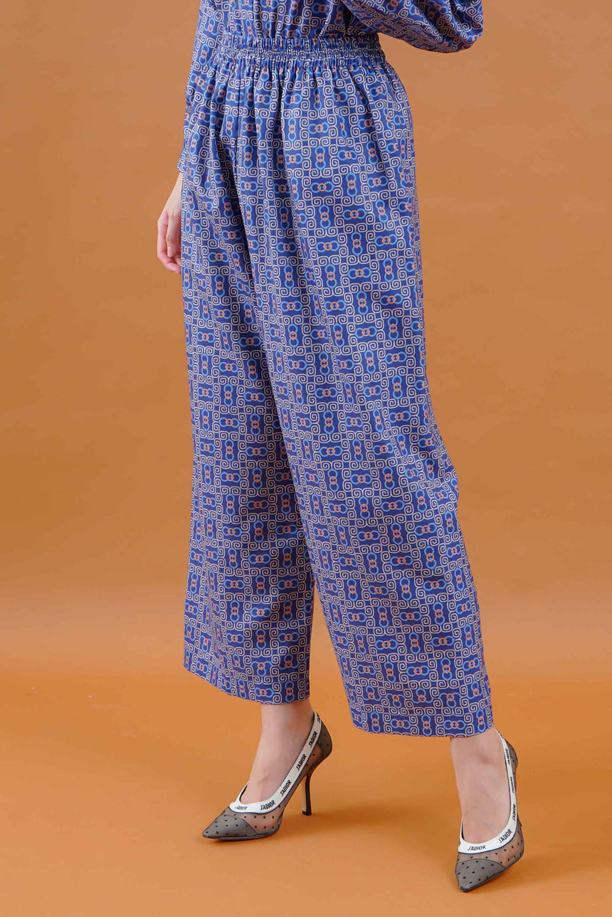 Olivia Stamp Pants Navy