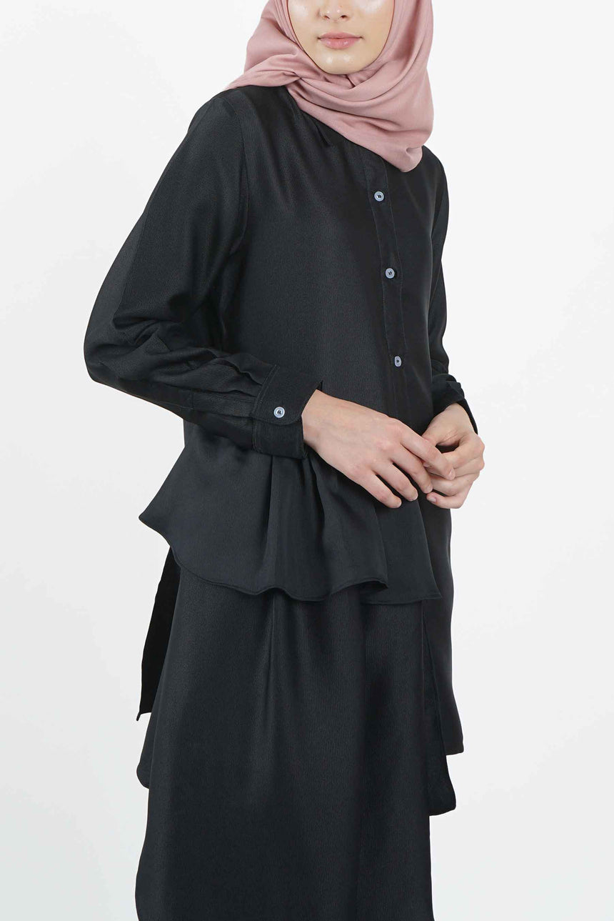 Tech Shirt Siri Tunic Black