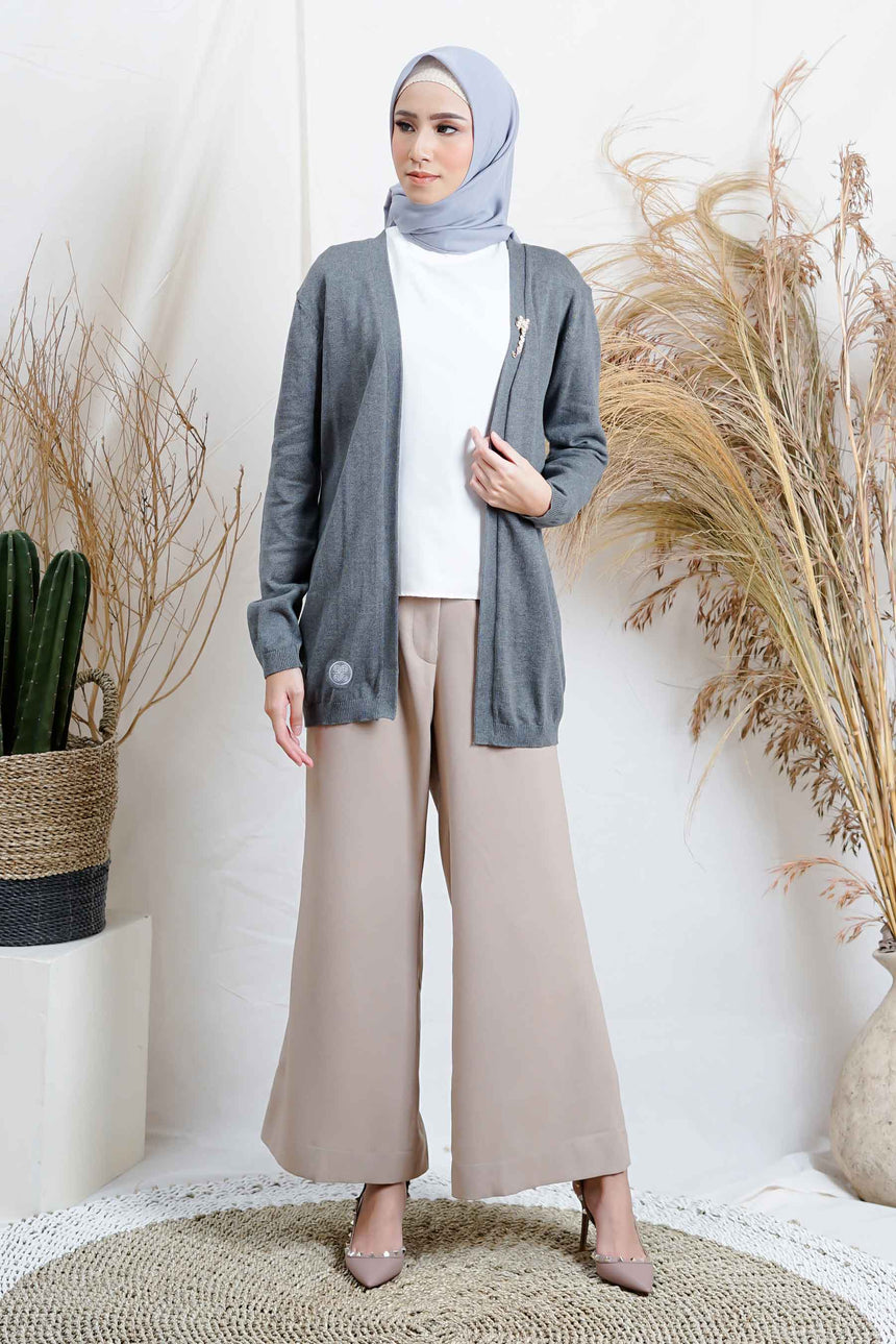 Pin Cardigan Grey