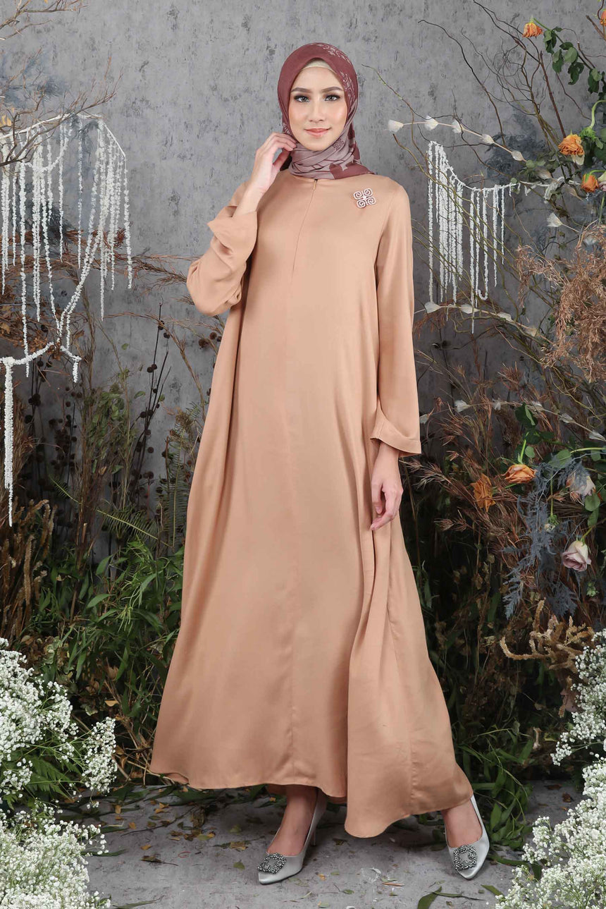 Kenang Dress Walnut