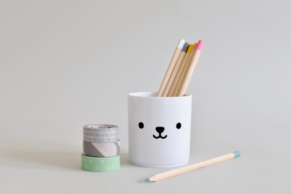 Buddy+Bear Bear tumbler white