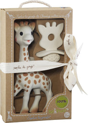 SOPHIE LA GIRAFE AND SO PURE SOPHIE NATURAL TEETHER SET