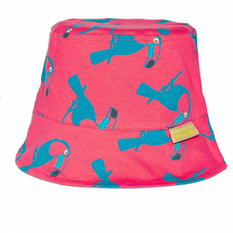 BOYS&GIRLS TOUCAN SUN HAT - WATERMELON