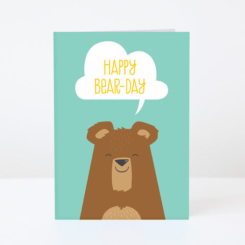 PYGMY CLOUD - HAPPY BEAR-DAY GREETINGS CARD