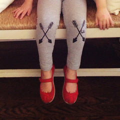 HELLO APPAREL ARROW KIDS LEGGINGS - GREY
