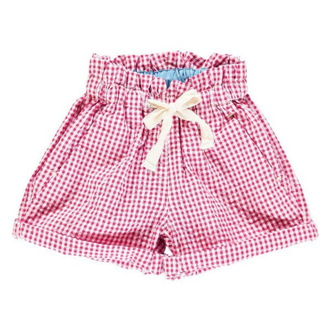 TOOTSA MACGINTY FRAMBOISE COMFY SHORTS – RED GINGHAM