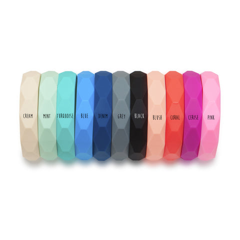 LARA AND OLLIE SILICONE BANGLE - VARIOUS COLOURS