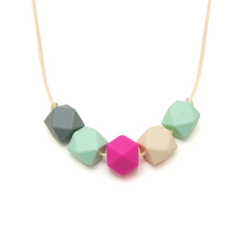 LARA AND OLLIE SILICONE TEETHING NECKLACE - CLARA